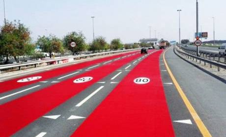 Why the RTA painted the road red